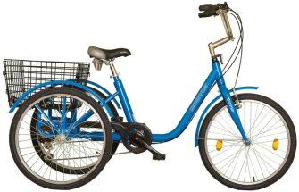 """Koliken Gommer 24"""" háromkerekű 6 sebességes kerékpár kék"""