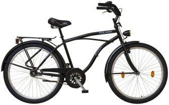 "Koliken Cruiser túra 26"" férfi kerékpár fekete"