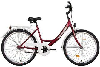 """Koliken Biketek 26"""" túra kontrafékes női kerékpár bordó"""