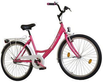 """Koliken Biketek 26"""" túra kontrafékes női kerékpár ciklámen"""