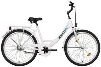 """Koliken Biketek 26"""" túra kontrafékes női kerékpár fehér"""
