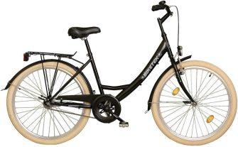 """Koliken Biketek 26"""" túra kontrafékes női kerékpár fekete"""