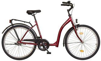 """Koliken Hunyadi 26"""" kontrafékes kerékpár piros"""