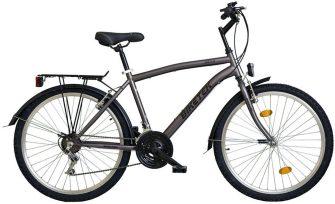 """Koliken Biketek 26"""" MTB férfi felszerelt kerékpár grafit"""