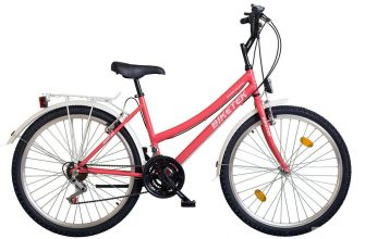 """Koliken Biketek Oryx 26"""" 18 seb női felszerelt kerékpár rózsaszín"""