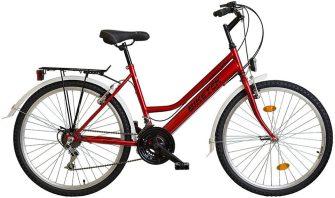 """Koliken Biketek Oryx 26"""" 18 seb női felszerelt kerékpár bordó"""