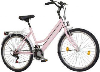 """Koliken Biketek Oryx 26"""" 18 seb női felszerelt kerékpár világos rózsaszín"""