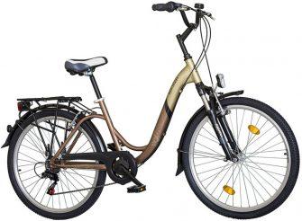 "Koliken Pretty Bike 26"" virágos drapp Shimano 6sp"
