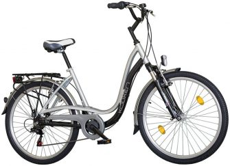 """Koliken Pretty Bike 26"""" Kristályköves kerékpár fekete-ezüst"""