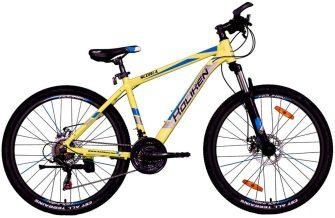 """Koliken Scoria 26/17"""" MTB alu kerékpár sárga-kék"""