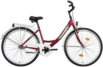 """Koliken Biketek 28"""" túra kontrafékes női kerékpár bordó"""