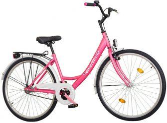 """Koliken Biketek 28"""" túra kontrafékes női kerékpár rózsaszín"""