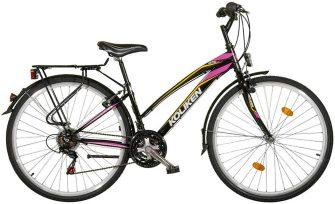 """Koliken Gisu 28"""" RS35 trekking női kerékpár fekete-ciklámen"""