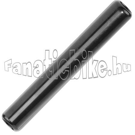 Nyeregcső acél 22x200mm fekete