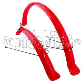 """28"""" (622-es) műanyag sárvédő színes piros"""