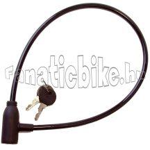 Kulcsos zár 65 cm fekete