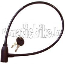 Kulcsos zár 6x600mm fekete