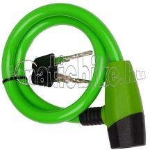 Zár kulcsos 12x650mm zöld