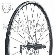 "Fűzött hátsó kerék KLS DRAFT V-brake R, 28/29"", black"