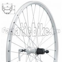 "Fűzött hátsó kerék KLS DRAFT V-brake R, 28/29"", silver"