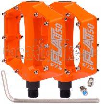 KLS FLAT 50 BB alu pedál narancssárga