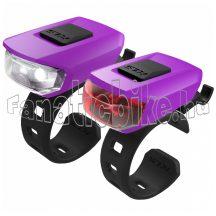 USB KLS VEGA lámpa szett lila