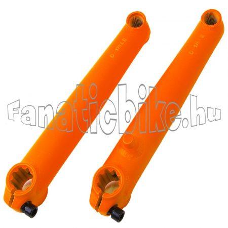 Mongoose BMX hajtókar 8 fogas 175/19mm narancs színü