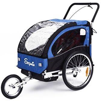 Gyerek csomag és jogging utánfutó kék