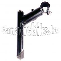 Kormányszár acél 22,2/100 mm fúrt fekete
