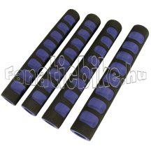 Színes szivacsmarkolat 4 részes (országúti kormányra) fekete-kék