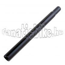 25.4x300mm acél nyeregcső fekete