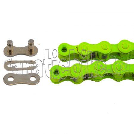 KMC Z-410 1 sebességes 1/2X1/8 110 szem lánc zöld + patentszem
