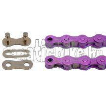 KMC Z-410 1/2X1/8 110 szem lánc lila