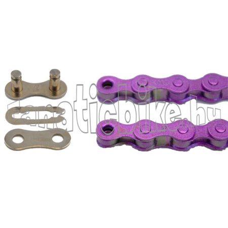 KMC Z-410 1 sebességes 1/2X1/8 110 szem lánc lila + patentszem