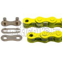 KMC Z-410 1 sebességes 1/2X1/8 110 szem lánc sárga + patentszem