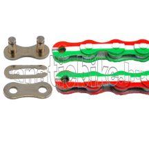 KMC Z-510 1/2X1/8 110 szem lánc piros-fehér-zöld