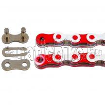KMC Z-510 1 sebességes 1/2X1/8 110 szem lánc fehér-piros + patentszem