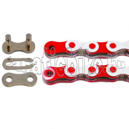 KMC Z-510 1 sebességes 1/2X1/8 110 szem lánc fehér-piros