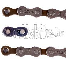 KMC Z7 5-6-7 sebességes 1/2x3/32 116 tagu lánc + CL573R patentszem