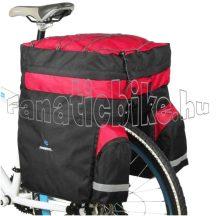Roshweel túratáska csomagtartóra fekete-piros (esővédővel)