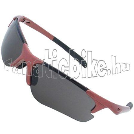 Kerékpáros szemüveg piros/füst