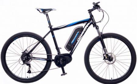 """Neuzer E-650B pedelec kerékpár 19"""" fekete/fehér-cián"""
