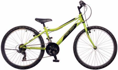 """Neuzer bobby 24"""" 18s kerékpár neonzöld/fekete-fehér"""