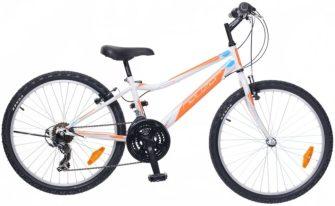 """Neuzer Bobby 24"""" 18s kerékpár fehér/narancs -cián"""