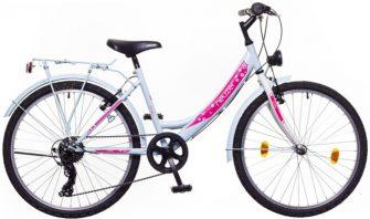 """Neuzer Cindy City 24"""" felszerelt babyblue/fehér-pink"""
