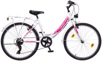 """Neuzer Cindy City 24"""" felszerelt fehér/fehér-pink"""