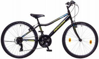 """Neuzer bobby 24"""" 18s kerékpár fekete/zöld-kék"""