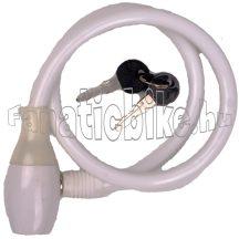 Lakat kábel kulcsos 10x650mm fehér