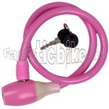 Lakat kábel kulcsos 10x650mm rózsaszin