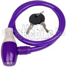 Lakat kábel kulcsos 10x650 lila